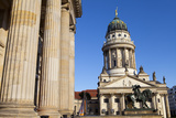 Theatre with Franzosisch (French) Church in the Background, Gendarmenmarkt, Berlin, Germany, Europe Photographic Print by Miles Ertman