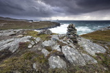 Dramatic Rocky Coastline Above Gearrannan Blackhouse Village Photographic Print by Lee Frost