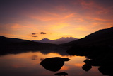 Snow-Capped Snowdon Mountain Range Viewed at Sunset over Llynnau Mymbyr Photographic Print by Ian Egner
