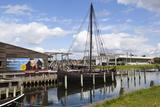 Viking Age Replica Ship and Viking Ship Hall Photographic Print by Stuart Black
