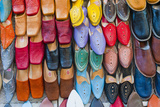 Colourful Babouche (Mens Leather Slippers) for Sale in the Marrakech Souks Photographic Print by Matthew Williams-Ellis