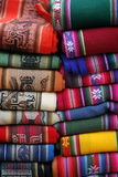 Local Carpets Made of Llama and Alpaca Wool for Sale at the Market in Purmamarca Photographic Print by Yadid Levy