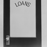 Office Door Glass Panel with Sign Loans Photographic Print by H. Armstrong Roberts