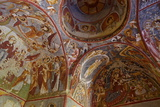 View of Ceiling with Fresco Painting in a Cave Church Photographic Print by Simon Montgomery