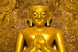 Golden Buddha Image Standing 33Ft Tall Inside Ananda Paya, Bagan, Myanmar (Burma), Southeast Asia Photographic Print by Lee Frost
