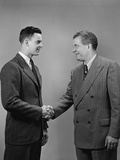 Two Business Men of Different Generations Shaking Hands Photographic Print by H. Armstrong Roberts