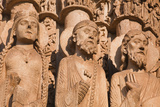 Stone Figures Adorning the West Front of Chartres Cathedral Photographic Print by Julian Elliott