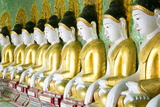 Some of the 45 Buddha Images Found at a Crescent-Shaped Colonnade at Umin Thounzeh on Sagaing Hill Photographie par Lee Frost