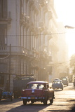 Vintage American Car Taxi on Avenue Colon During Morning Rush Hour Soon after Sunrise Photographic Print by Lee Frost