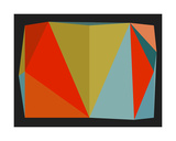 Triangulations n°5, 2013 Serigraph by Henri Boissiere