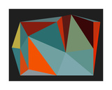 Triangulations n°4, 2013 Serigraph by Henri Boissiere