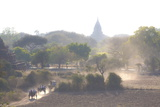View over the Temples of Bagan Swathed in Early Morning Mist Photographic Print by Lee Frost