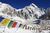 Prayer Flags at Everest Base Camp Photographic Print by Christian Kober