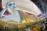 The 70M Long Chaukhtatgyi Reclining Buddha at Chaukhtatgyi Paya Photographic Print by Lee Frost