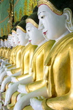Some of the 45 Buddha Images Found at a Crescent-Shaped Colonnade at Umin Thounzeh on Sagaing Hill Photographic Print by Lee Frost