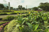 Church and Park in This Tourist Hub Town Near the Hot Springs and Arenal Volcano Photographic Print by Rob Francis