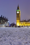 Houses of Parliament and Big Ben in Snow Photographic Print by Stuart Black
