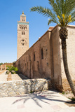 Katoubia Mosque and Palm Tree in Djemaa El Fna Photographic Print by Matthew Williams-Ellis