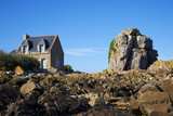 Pors Hir Harbour, Cote De Granit Rose, Cotes D'Armor, Brittany, France, Europe Photographic Print by  Tuul