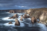 Rugged Coastline Being Pounded by Waves on the West Coast of Lewis at Mangersta Photographic Print by Lee Frost