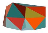 Triangulations n°1, 2013 Serigraph by Henri Boissiere