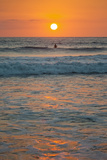 Sunset at Playa Guiones Surfing Beach Photographic Print by Rob Francis