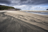 Dalbeg Beach with Intricate Patterns in the Sand Fotografisk tryk af Lee Frost