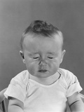 Portrait Baby with Eyes Tightly Closed Photographic Print by H. Armstrong Roberts