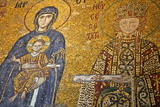 Mosaic of Virgin Mary and Infant Jesus Christ Found in the Hagia Sophia Museum Photographic Print by Simon Montgomery