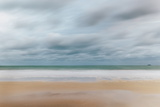 Carbis Bay Beach Looking to Godrevy Point at Dawn Photographic Print by Mark Doherty