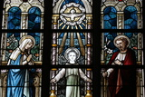 The Holy Family Depicted in a Stained Glass Window Photographic Print by  Godong