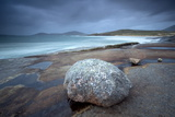 Large Erratic Boulder on the Rocky Coastline at Scarista Photographic Print by Lee Frost