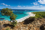 View over the Turquoise Waters of Barbuda Photographic Print by Michael Runkel