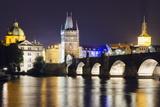 Charles Bridge and Mala Strana Bridge Tower Photographic Print by Christian Kober