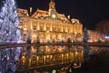 The Mairie (Town Hall) of Tours Lit Up with Christmas Lights, Tours, Indre-Et-Loire, France, Europe Photographic Print by Julian Elliott