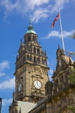 Town Hall Clocktower and Union Jack Photographic Print by Frank Fell