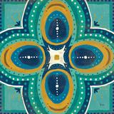 Proud as a Peacock Tile IV Prints by Veronique Charron
