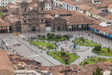 Cuzco Cityscape with Plaza De Armas from Hill Above City Photographic Print by Michael DeFreitas