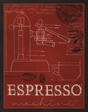 Coffee Blueprint IV v2 Prints by Marco Fabiano