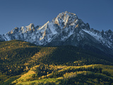 Mount Sneffels with Snow in the Fall Photographic Print by James Hager