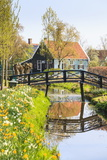 Preserved Historic Houses in Zaanse Schans Photographic Print by Amanda Hall