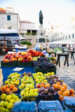 Fresh Fruit Stalls and Statue of Ivan Gundulic Photographic Print by Matthew Williams-Ellis