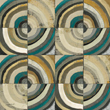 The Center II Abstract Turquoise Prints by Cheryl Warrick