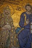 Mosaic of Emperor Constantine Ix Monomachos Photographic Print by Simon Montgomery