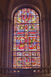 The Famous Stained Glass Window of the Crucifixion of Christ in Poitiers Cathedral Photographic Print by Julian Elliott