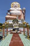 Giant Buddha Image at Wat Plai Laem on the North East Coast of Koh Samui Photographic Print by Lee Frost
