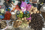 Batak Tribal Market Stall Selling Local Produce in Tomuk Photographic Print by Annie Owen