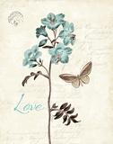 Slated Blue I Poster von Katie Pertiet