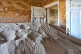 Interior of Building Slowly Being Consumed by the Sands of the Namib Desert Photographic Print by Lee Frost