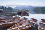 Boats at the Edge of Derwent Water in the Lake District National Park Photographic Print by Julian Elliott